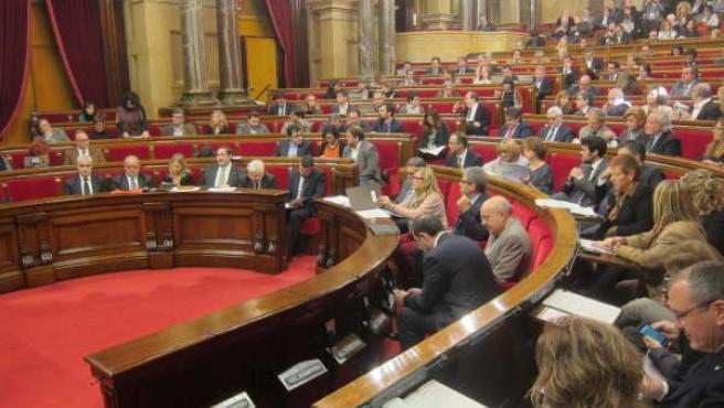 Vista del pleno del Parlament de Catalunya