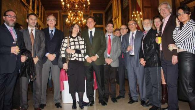 Felicitación de fiestas de alcalde de Palma, Mateo Isern