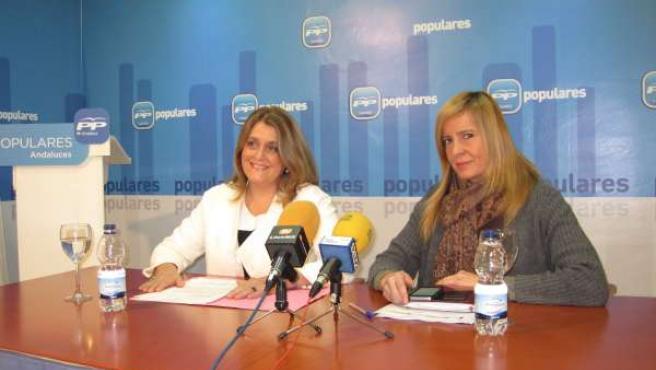 Rueda de prensa de Ángeles Isac y Rosario Alarcón