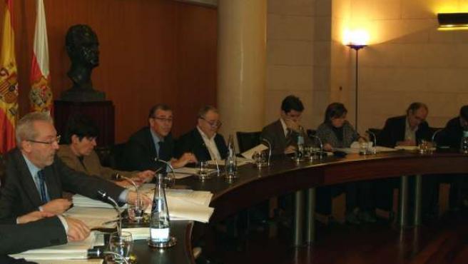 Pleno en la Diputación de Huesca