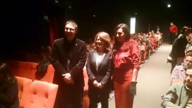 Pablo García, Manuela Gómez y Susana Córdoba