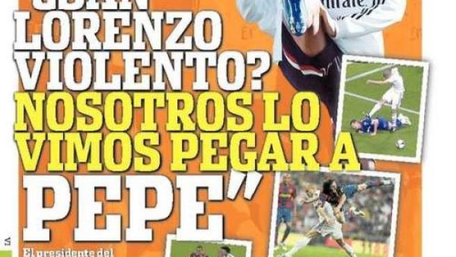 Portada del diario deportivo argentino 'Olé'.
