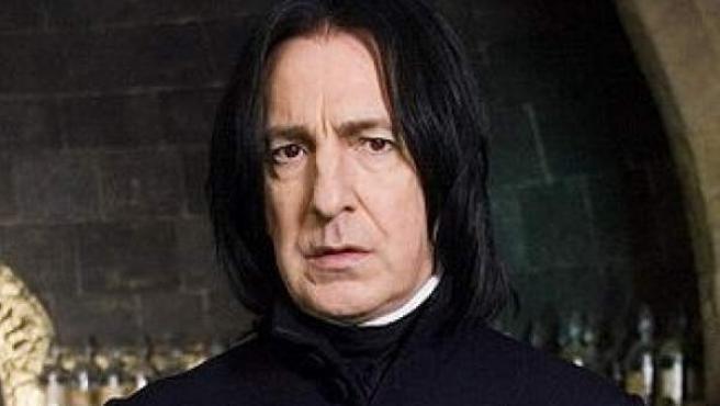El actor Alan Rickman, en su papel de Severus Snape en las películas de Harry Potter.