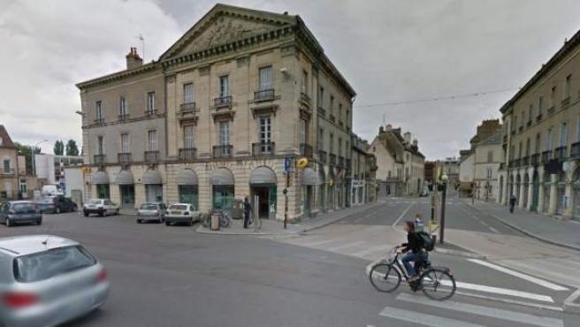 Plaza de Wilson en la localidad de Dijon, Francia.