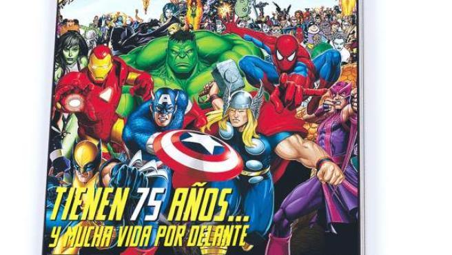 Portada de La revista de 20minutos para celebrar los 75 años de los comics de Marvel.