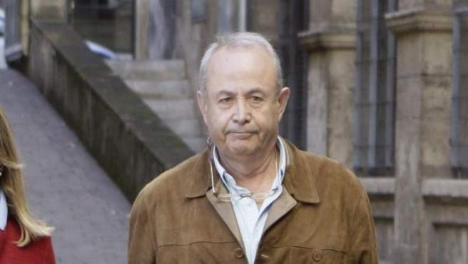 El juez José Castro, saliendo de los juzgados de la capital balear.