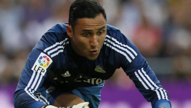 Keylor Navas en su debut oficial con el Real Madrid ante el Elche.