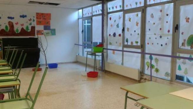 Goteras en el Colegio Las Anejas de Teruel