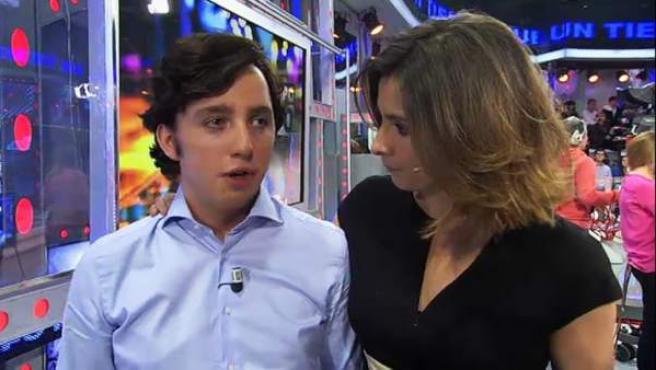 El pequeño Nicolás y Sandra Barneda.