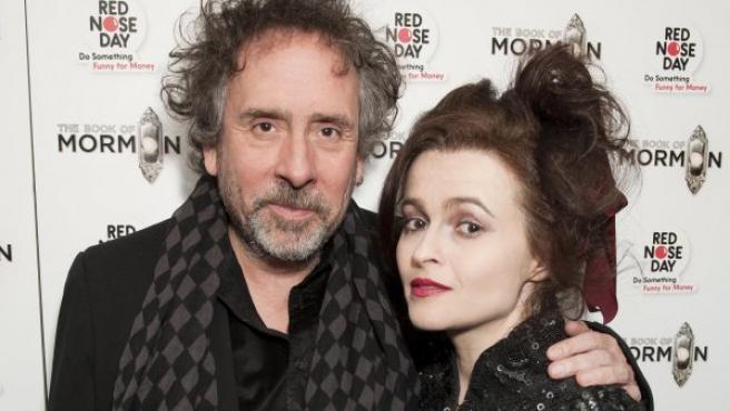 Tim Burton y Helena Bonham Carter en marzo de 2013.