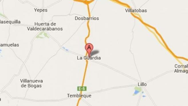 Localización de La Guardia (Toledo) en el mapa.