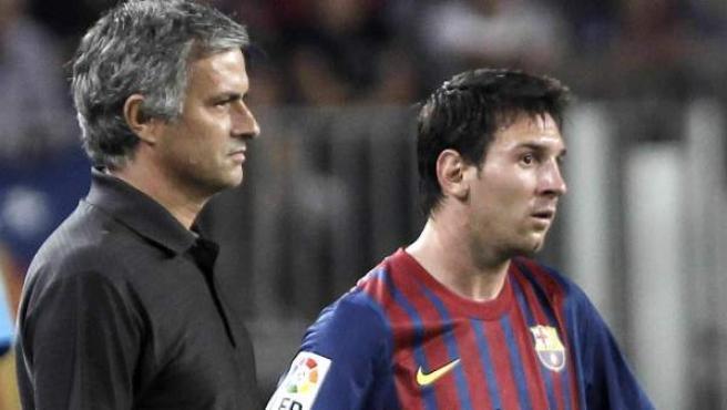 Mourinho y Messi en 2011.