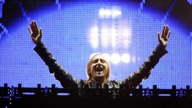 David Guetta, durante su actuación en el Rock in Rio 2012.