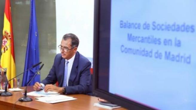 El consejero de Economía y Hacienda de la Comunidad de Madrid, Enrique Ossorio.
