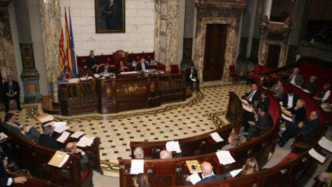 Pleno en el Ayuntamiento de Valencia
