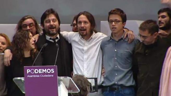 Primera reunión ejecutiva de Podemos.