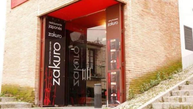 La fachada de Zakuro, un restaurante japonés en la Alhambra.