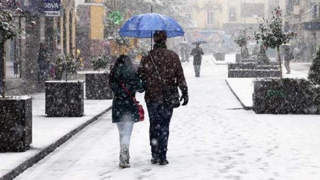 La nieve cubre la ciudad de Cuenca, en una imagen de archivo.