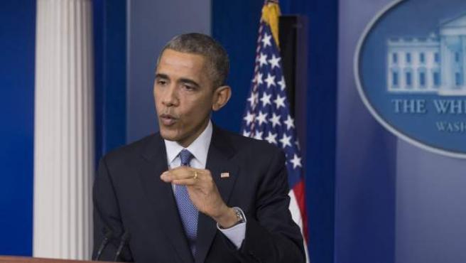 Obama en rueda de prensa.