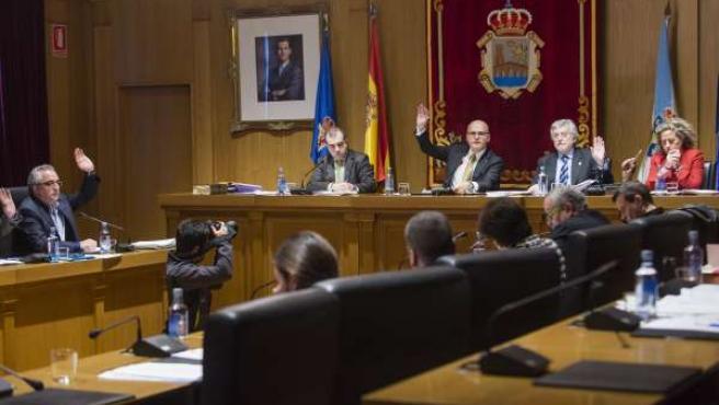 Pleno ordinario de la Diputación de Ourense.