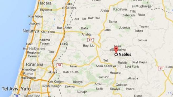 Nablus, Cisjordania.