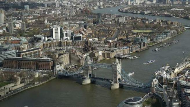 Vista aérea de Londres, una de las ciudades más inteligentes del mundo.