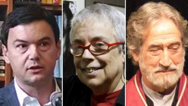 De izquierda a derecha, el economista Thomas Piketty, la fotógrafa Colita, el músico Jordi Savall y el escritor Javier Marías.