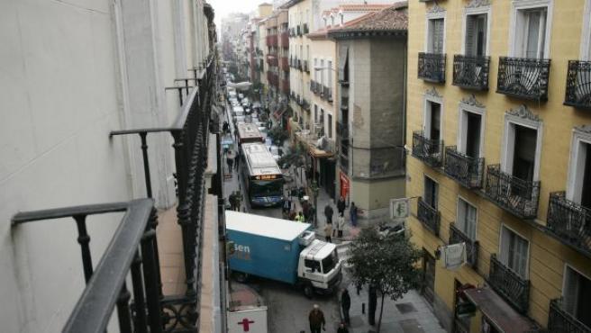 Calle de Hortaleza, en Madrid.