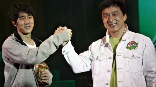 Jackie Chan y su hijo Jaycee en una imagen de 2008.