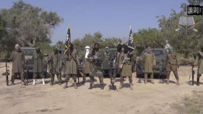 Imagen de archivo de un grupo de activistas de Boko Haram, en Nigeria.
