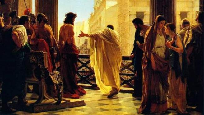 Representación del juicio a Jesús realizada en 1871.