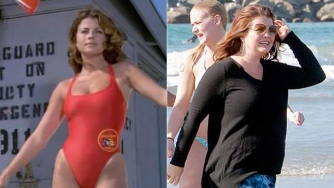 Veinte años separan las dos imágenes de Yasmine Bleeth. A la derecha, este 1 de enero en Venice Beach.