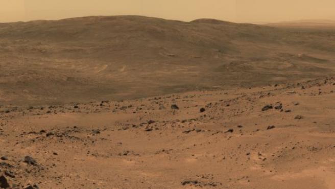 Imagen de la superficie de Marte, en una fotografía enviada por el robot Opportunity.