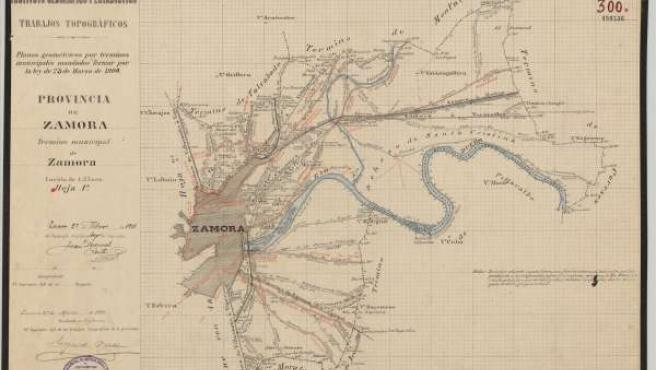 Fragmento plano de Zamora