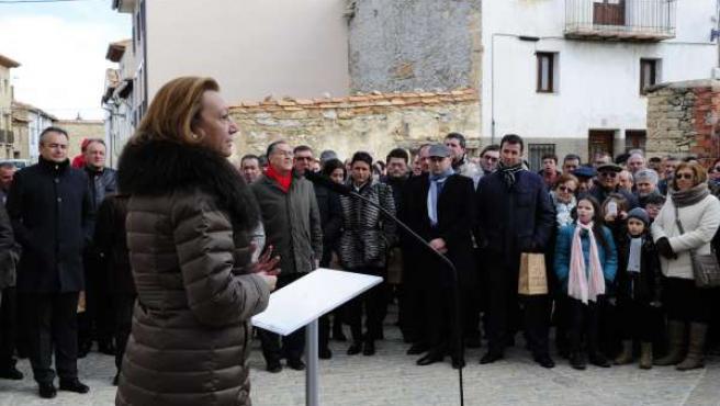 La presidenta del Gobierno de Aragón, Luisa Fernanda Rudi, en Cantavieja.