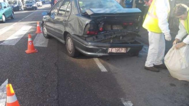 Imagen del accidente ocurrido este domingo en Vigo