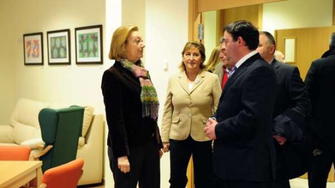 Rudi visita la Residencia de Mayores de Cantavieja.
