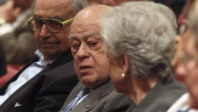 El expresidente de la Generalitat Jordi Pujol y su esposa, Marta Ferrusola, en un acto.