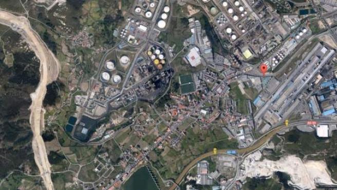 Imagen vía satélite de la localidad coruñesa de Meicende, en la parroquia de Arteixo.