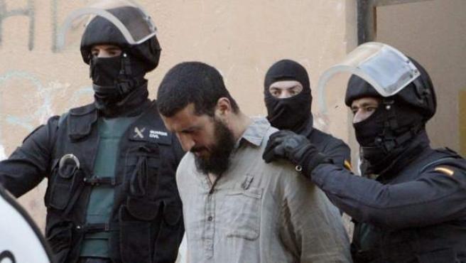 Uno de los detenidos en mayo de 2014 por pertenecer a una red internacional de captación y envío de yihadistas para su integración en organizaciones terroristas.