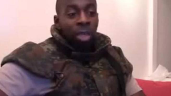 El presunto yihadista Amedy Coulibaly, en un vídeo emitido tras su muerte.