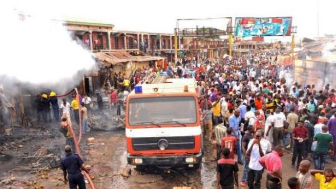 Imagen de archivo de un atentado en Nigeria.