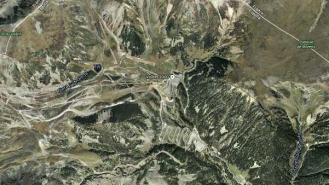La zona donde se halló el cadáver del excursionista.