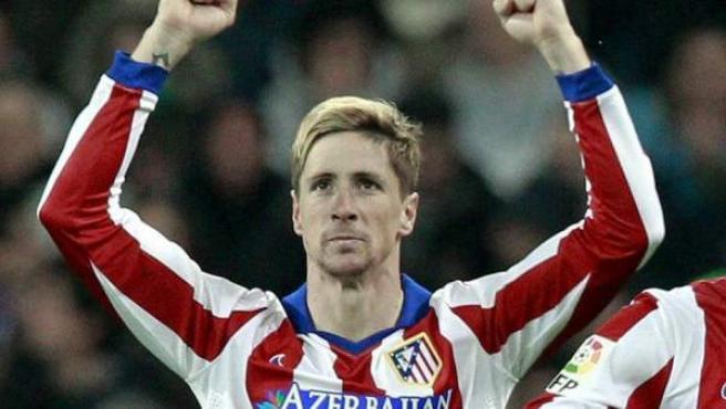 Gol de Fernando Torres con el Atlético al Real Madrid.
