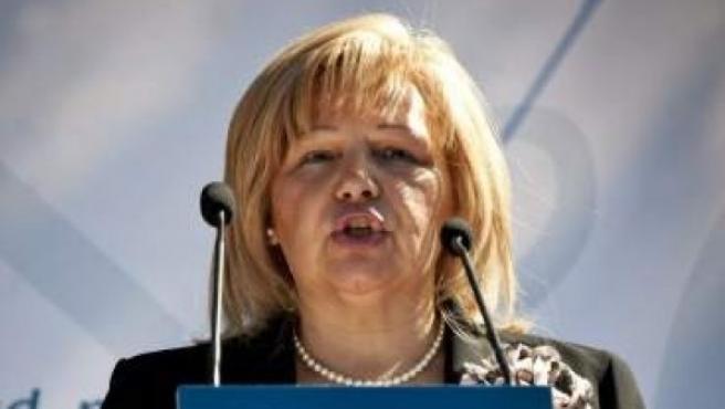 La presidenta de la AVT, Ángeles Pedraza.
