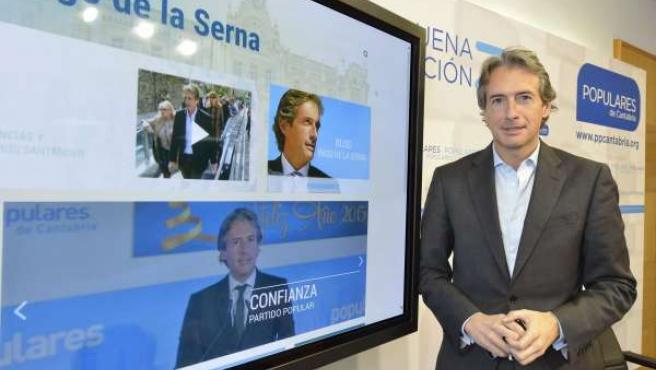 Alcalde de Santander, Íñigo de la Serna, con nueva web del grupo municipal de PP