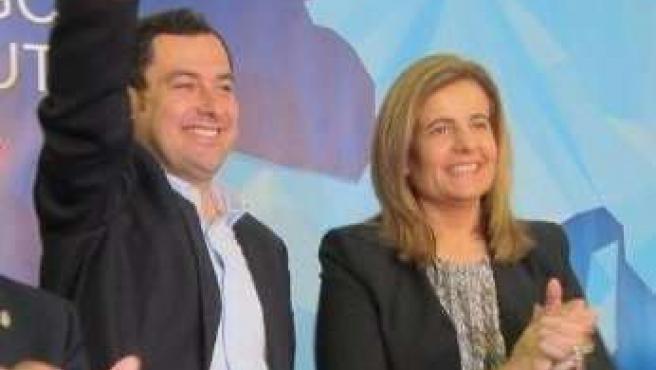 Juanma Moreno y Fátima Báñez