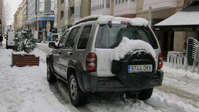 El centro de vitoria con nieve