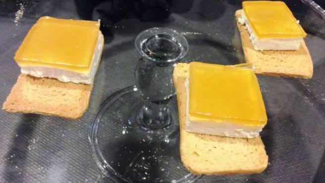 Idílico, queso cubierto con miel gelificada ganador del II New Food.