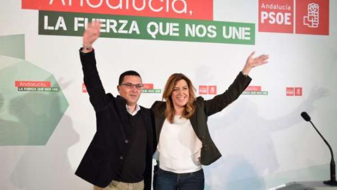 Susana Díaz con Jerónimo Guerrero